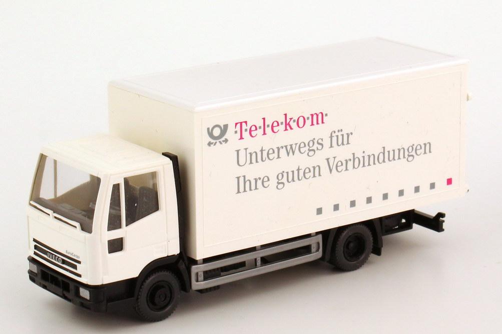Foto 1:87 Iveco EuroCargo 2a Ko-Lkw Deutsche Post, Telekom - Unterwegs für Ihre guten Verbindungen Wiking