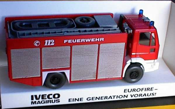 Foto 1:87 Iveco EuroFire RW2 Feuerwehr Werbemodell Wiking