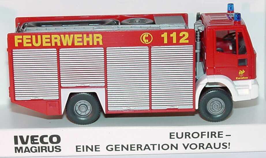 Foto 1:87 Iveco EuroFire RW2 Feuerwehr, gelbe Schrift Werbemodell Wiking 2655