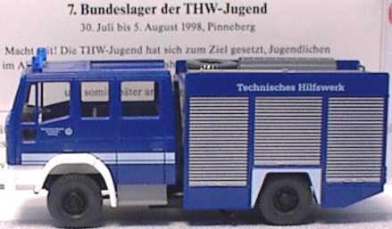 Foto 1:87 Iveco EuroFire RW2 THW(7. Bundeslager der THW-Jugend 1998) Wiking