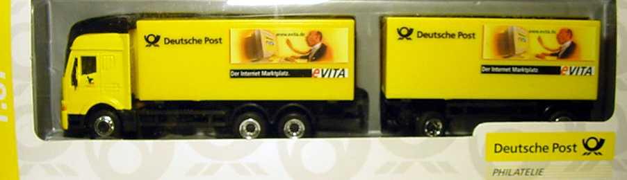 Foto 1:87 Iveco EuroStar Fv KoSzg 3/2 Deutsche Post, eVITA, Expo 2000 Schuco 021476