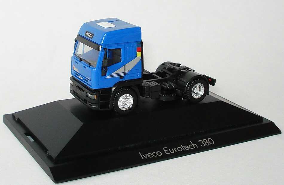 Foto 1:87 Iveco EuroTech 380 Hochdach 2a Szgm blau herpa 110136