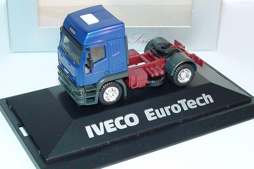 Foto 1:87 Iveco EuroTech Hochdach Sattelzugmaschine 2achsig blau-met. - Werbemodell - herpa 2364
