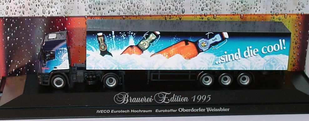 Foto 1:87 Iveco EuroTech Hochdach Cv KoSzg 2/3 Oberdorfer Weissbier ..sind die cool! herpa 183499