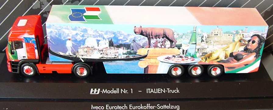 Foto 1:87 Iveco EuroTech Hochdach Cv KoSzg Cv 2/3 Italien-Truck (HHI-Modell Nr. 1) herpa