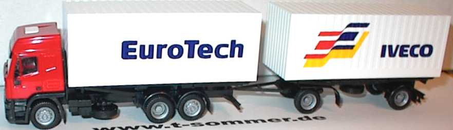 Foto 1:87 Iveco EuroTech Hochdach WKoHgz 3/2 Iveco EuroTech Werbemodell herpa 2366