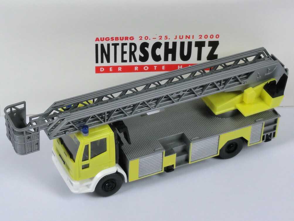 Foto 1:87 Iveco Magirus EuroFire Drehleiter DLK 23-12 gelb Interschutz 2000, Der Rote Hahn Wiking 61902