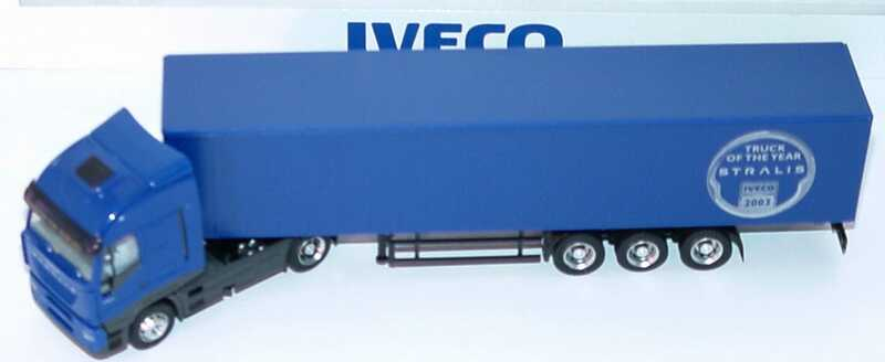Foto 1:87 Iveco Stralis AS Fv Cv GpSzg 2/3 blau Truck of the year 2003 Werbemodell Rietze 2737