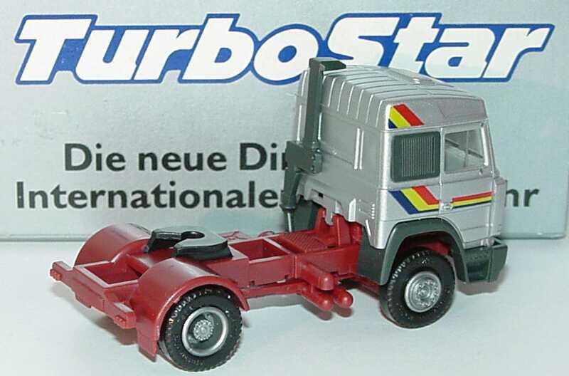 Foto 1:87 Iveco TurboStar 2a Szgm silber-met. TurboStar - Die neue Dimension im Internationalen Fernverkehr Werbemodell herpa