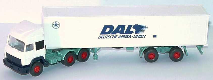 Foto 1:87 Iveco TurboStar Fv 40CoSzg 3/2 DAL Deutsche Afrika Linien Wiking