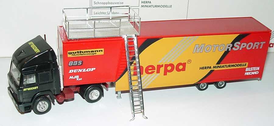 Foto 1:87 Iveco TurboStar Fv JuKoSzg 2/2 Renntransporter Streicher, Herpa Motorsport herpa 035521