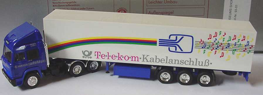 Foto 1:87 Iveco TurboStar Fv KoSzg 3/3 Telekom-Kabelanschluß herpa 93-01