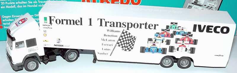 Foto 1:87 Iveco TurboStar Fv KoSzg Cv 2/2 Iveco Formel 1 Transporter, Jo Vonlanthen Interrace Team Albedo 220012