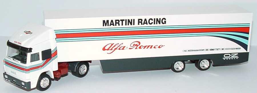 Foto 1:87 Iveco TurboStar Fv KoSzg Cv 2/2 Renntransporter Alfa Romeo Martini Racing herpa 036610