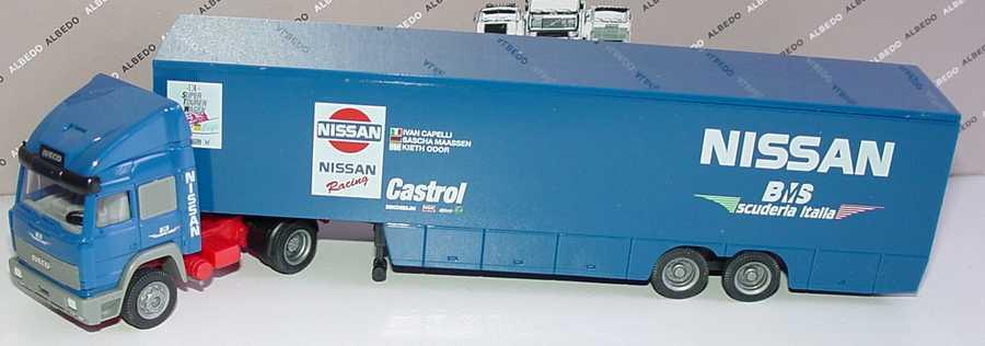 Foto 1:87 Iveco TurboStar Fv KoSzg Cv 2/2 STW-Cup Renntransporter BMS Nissan Racing Suderia Italia Albedo 600019