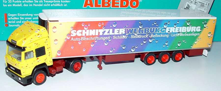 Foto 1:87 Iveco TurboStar Fv KükoSzg 2/3 Schnitzler Werbung Freiburg Albedo 296019