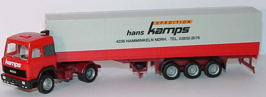Foto 1:87 Iveco TurboStar PPSzg 2/3 Spedition Hans Kamps, Hamminkeln herpa
