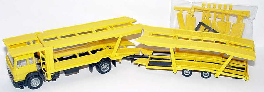 Foto 1:87 Iveco TurboTech AutotransportHgz 2/2 gelb herpa