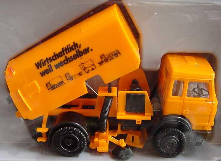 Foto 1:87 Iveco TurboTech (K) 2a Kehrmaschine orange Wirtschaftlich weil wechselbar herpa 858005