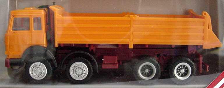 Foto 1:87 Iveco TurboTech (K) 4a Kipper orange herpa 858006