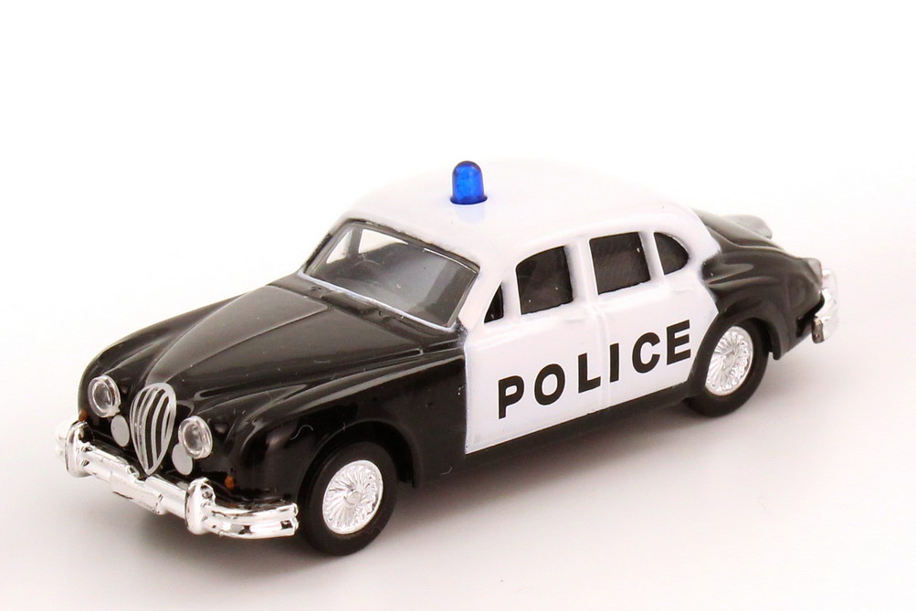 Foto 1:87 Jaguar MK II Police schwarz/weiß Malibu International 25222