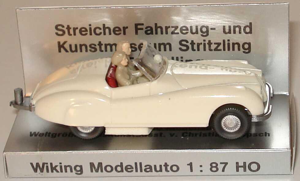 Foto 1:87 Jaguar Sport cremeweiß (mit Figuren und Zughaken) (Streicher Verpackung) Wiking 020