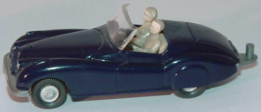 Foto 1:87 Jaguar Sport dunkelblau (mit Figuren und Zughaken) (Bastelware) Wiking 020