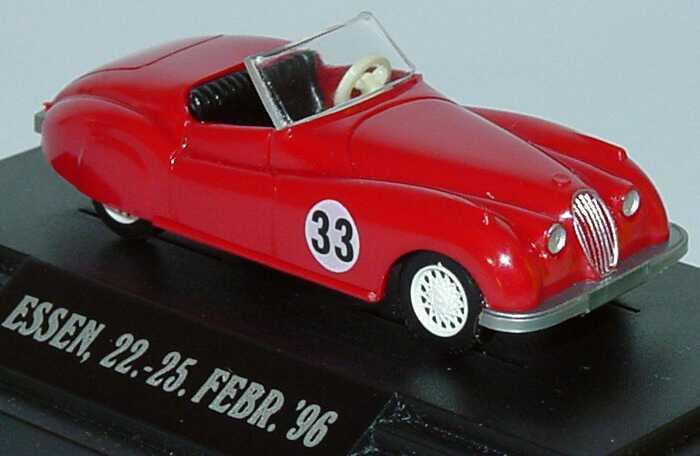 Foto 1:87 Jaguar XK 120 rot Nr.33 Techno Classica Essen ´96 Wiking 80102