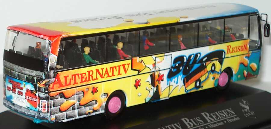 Foto 1:87 Kässbohrer Setra S 215 HD Alternativ Bus Reisen Design Grafitti (Bus Edition 1994) herpa 174640