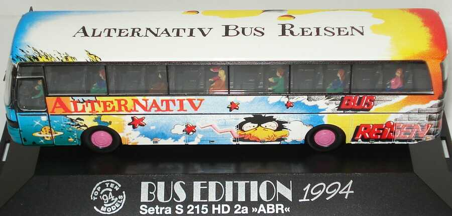 Foto 1:87 Kässbohrer Setra S 215 HD Alternativ Bus Reisen Design Grafitti (Bus Edition 1994) herpa 174640