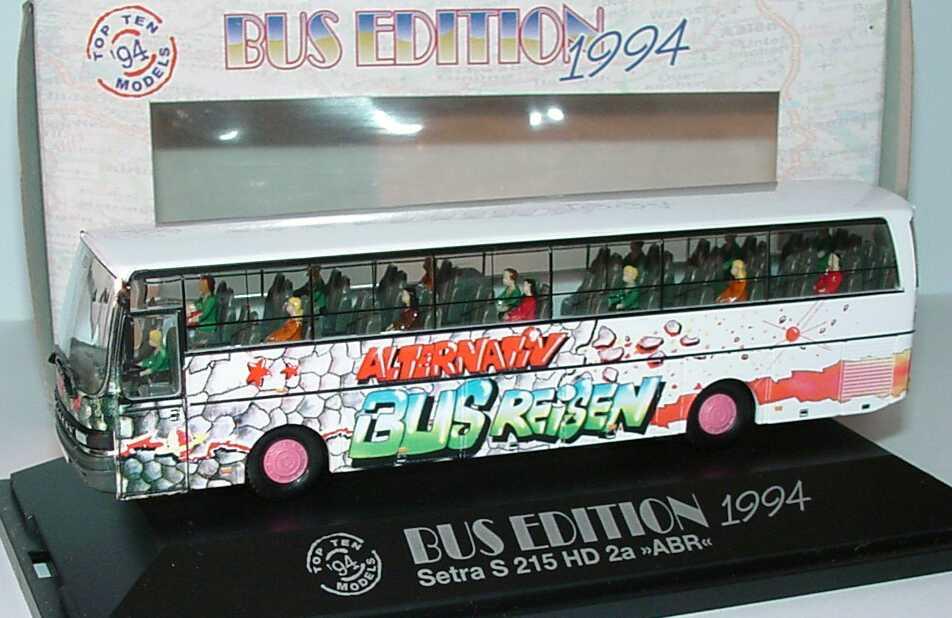 Foto 1:87 Kässbohrer Setra S 215 HD Alternativ Bus Reisen Design Pyramide (Bus Edition 1994) herpa 174688
