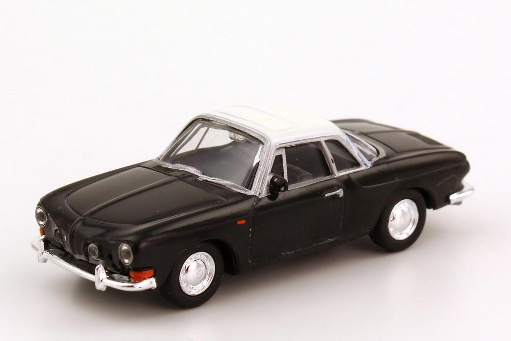 Foto 1:87 Karmann Ghia 1600 Coupé schwarz, Dach weiß herpa 023382