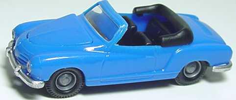 Foto 1:87 Karmann Ghia Cabrio azurblau I.M.U. 01201