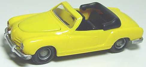 Foto 1:87 Karmann Ghia Cabrio gelb I.M.U. 01201