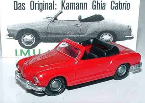 Foto 1:87 Karmann Ghia Cabrio rot I.M.U. 01201