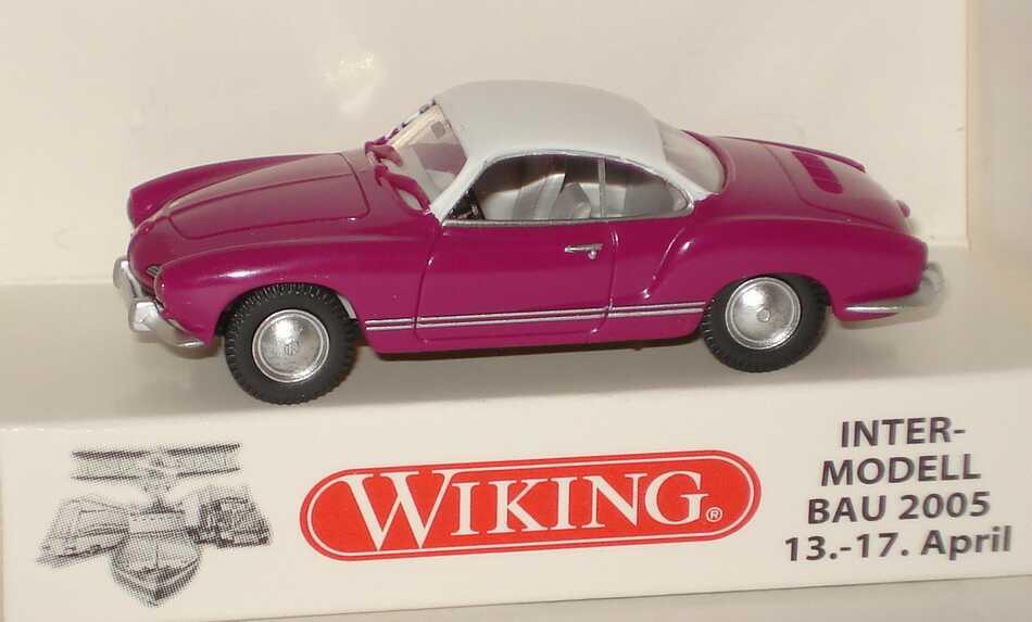 Foto 1:87 Karmann Ghia lila, weiß Intermodellbau 2005 Wiking 80507