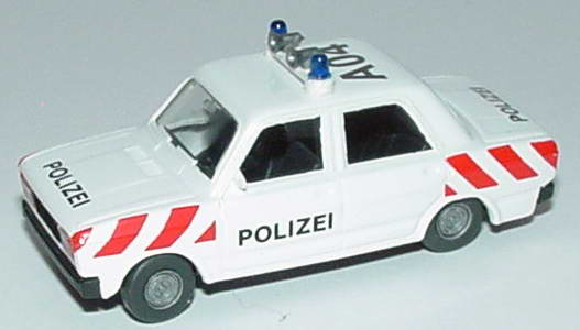 Foto 1:87 Lada Nova 2105 Autobahnpolizei A04 weiß mit roten Streifen SES Automodelle 13000203
