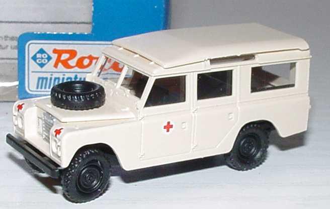 Foto 1:87 Land Rover lang Rotes Kreuz Roco 1380