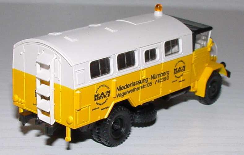 Foto 1:87 MAN 630 Werksattwagen MAN Service Niederlassung Nürnberg Roco 1410