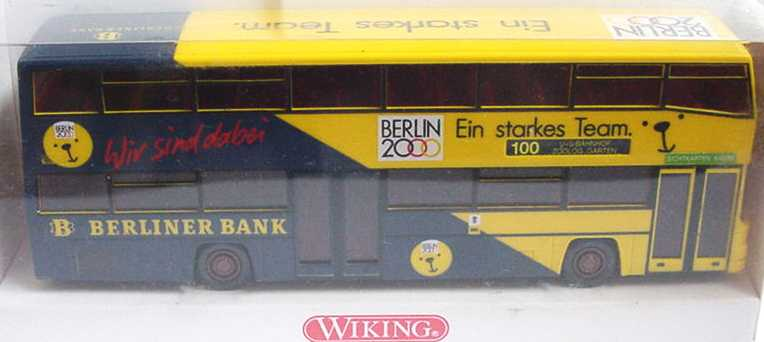 Foto 1:87 MAN D 89 Berlin 2000, Berliner Bank Wiking 7310240