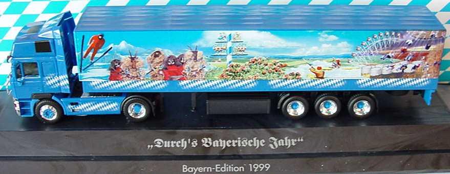 Foto 1:87 MAN F2000 Evo Hochdach Fv Cv PPSzg 2/3 Durch´s Bayrische Jahr - Bayern LKW ´99 herpa