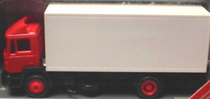 Foto 1:87 MAN F90 (K) 2a Ko mit Ladebordwand rot/weiß herpa 142434