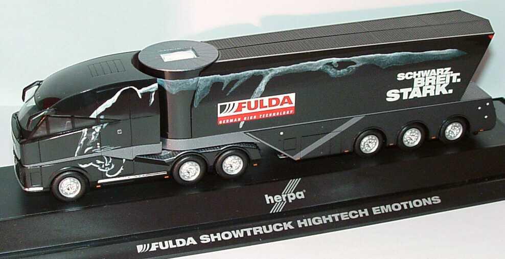 Foto 1:87 MAN Fulda-Truck Showbühnen-Szg 3/3 Schwarz. Breit. Stark., Hightech Emotions herpa 120319
