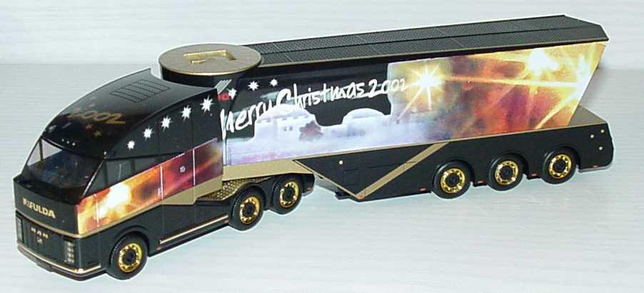 Foto 1:87 MAN Fulda-Truck Showbühnen-Szg 3/3 Weihnachten, Merry Christmas 2002 herpa 148061