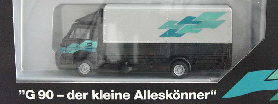 Foto 1:87 MAN G90 2a PP-Lkw schwarz/grau G90 - der kleine Alleskönner Werbemodell herpa