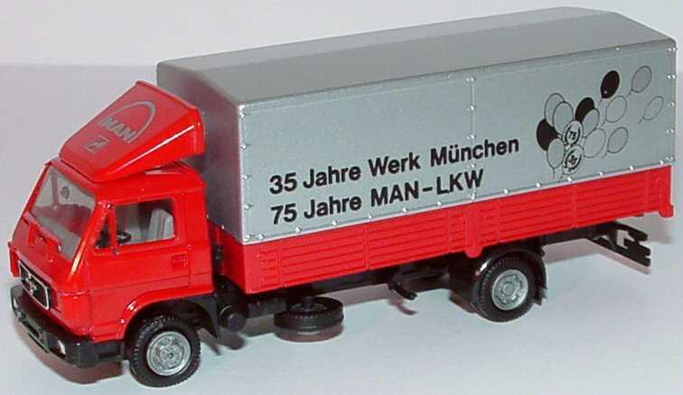 Foto 1:87 MAN G90 2a PP 35 Jahre Werk München, 75 Jahre MAN-LKW Werbemodell herpa