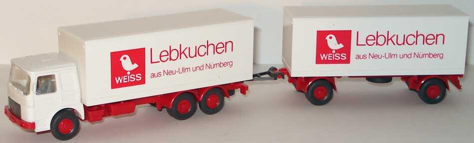 Foto 1:87 MAN KoHgz 3/2 Weiss Lebkuchen aus Neu-Ulm und Nürnberg Wiking 471
