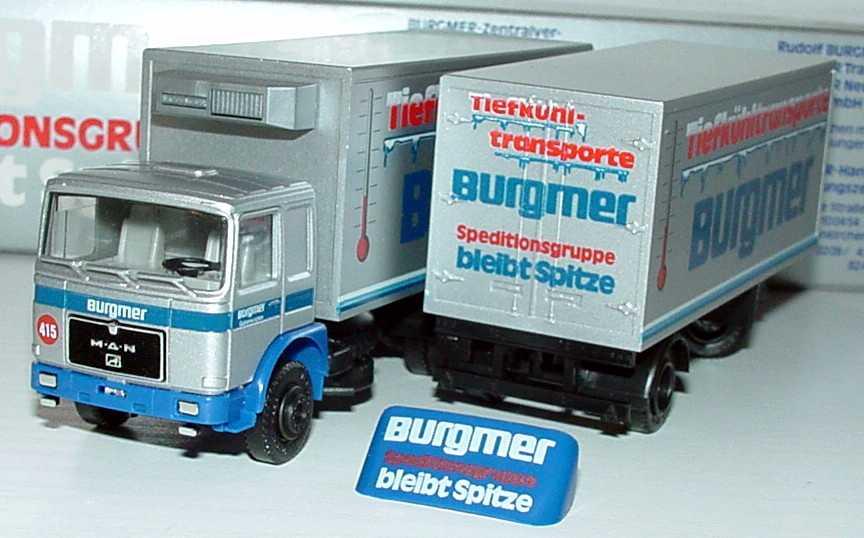 Foto 1:87 MAN KükoHgz 3/2 Tiefkühltransporte Burgmer (in Werbeverpackung) Albedo