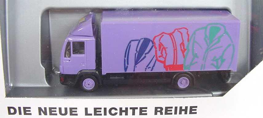 Foto 1:87 MAN L2000 2a Ko lila (Design Kleider, MAN) herpa 09.38069-0078