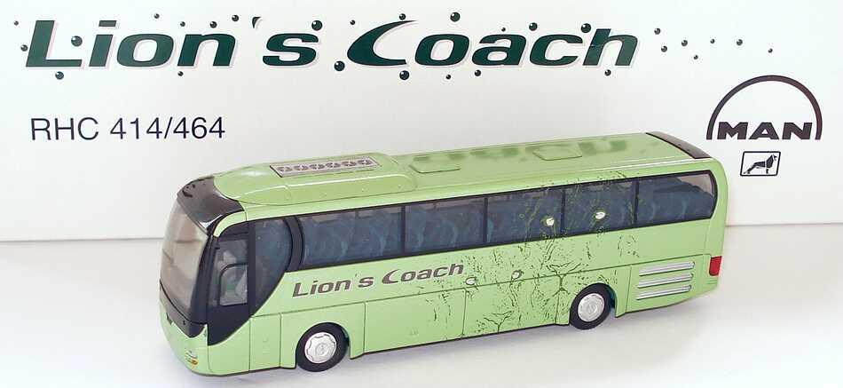 Foto 1:87 MAN Lion´s Coach RHC 414/464 Lion´s Coach grün-met. Werbemodell Rietze
